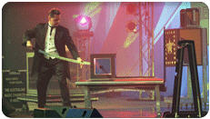 LAS VEGAS STYLE ILLUSION SHOWS - Robert Gallup - International Superstar of Magic - One of the worlds most spectacular illusionists